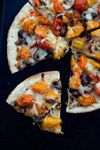 Oven Roasted Veggie Pizza #PizzaWe - 250 Great Pizza Recipes - RecipePin.com