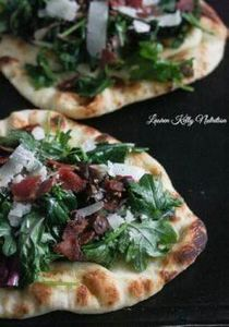 This Kale Bacon Manchego Pizza is  - 250 Great Pizza Recipes - RecipePin.com