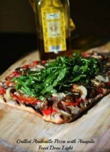 Grilled Andouille Pizza with Arugu - 250 Great Pizza Recipes - RecipePin.com