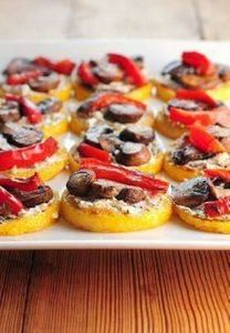 These Polenta Pizzas are a great a - 250 Great Pizza Recipes - RecipePin.com