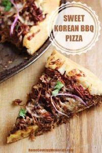 This Sweet Korean BBQ Pizza is an  - 250 Great Pizza Recipes - RecipePin.com