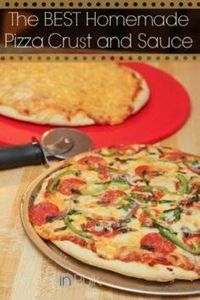 Best homemade pizza crust and sauc - 250 Great Pizza Recipes - RecipePin.com