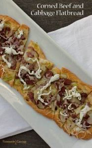 Corned Beef and Cabbage Flatbread - 250 Great Pizza Recipes - RecipePin.com