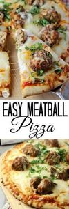 Easy Meatball Pizza | by Renee's K - 250 Great Pizza Recipes - RecipePin.com
