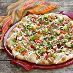 Grilled Chicken Mexican Pizza | AS - 250 Great Pizza Recipes - RecipePin.com