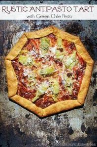 Rustic Antipasto Tart with Green C - 250 Great Pizza Recipes - RecipePin.com