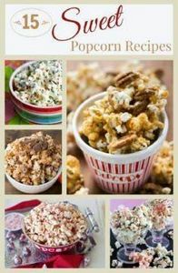 A round up of fifteen delicious sw - 250 Popcorn Recipes - RecipePin.com