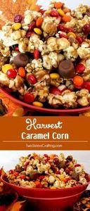 Harvest Caramel Corn - a fun Fall  - 250 Popcorn Recipes - RecipePin.com