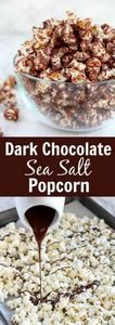 Dark Chocolate Sea Salt Popcorn -  - 250 Popcorn Recipes - RecipePin.com
