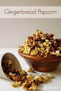 Gingerbread Popcorn great idea for - 250 Popcorn Recipes - RecipePin.com