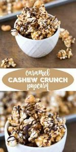Caramel Cashew Crunch Popcorn - 250 Popcorn Recipes - RecipePin.com