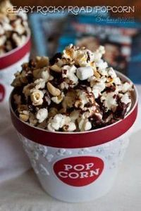 Easy Rocky Road Popcorn - from @Ba - 250 Popcorn Recipes - RecipePin.com