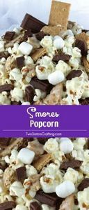 S'mores Popcorn - salty popcorn, s - 250 Popcorn Recipes - RecipePin.com