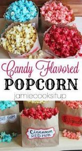 Candy Flavored Popcorn from Jamie  - 250 Popcorn Recipes - RecipePin.com