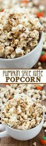 Pumpkin Spice Latte Popcorn - an e - 250 Popcorn Recipes - RecipePin.com