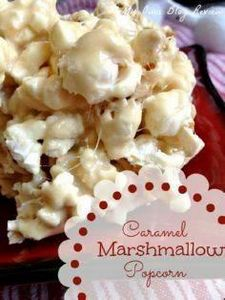 Caramel Marshmallow Popcorn is eas - 250 Popcorn Recipes - RecipePin.com