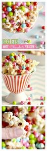 DELICIOUS White Chocolate Popcorn  - 250 Popcorn Recipes - RecipePin.com