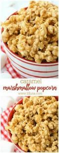 5-Minute Caramel Marshmallow Popco - 250 Popcorn Recipes - RecipePin.com