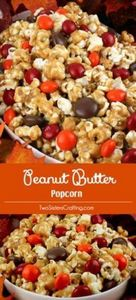 Peanut Butter Popcorn - sweet and  - 250 Popcorn Recipes - RecipePin.com