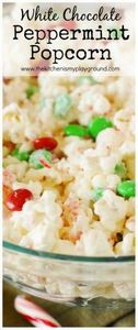 Christmas White Chocolate-Peppermi - 250 Popcorn Recipes - RecipePin.com