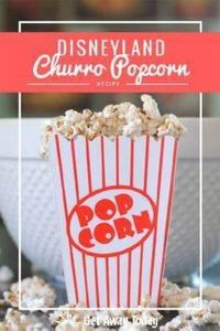 Disneyland churro popcorn is one o - 250 Popcorn Recipes - RecipePin.com