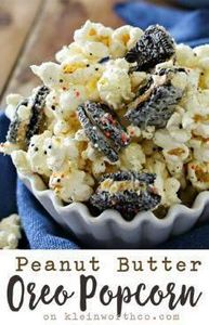 Peanut Butter Oreo Popcorn is the  - 250 Popcorn Recipes - RecipePin.com