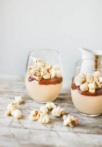 Salted Caramel Cheesecake Mousse w - 250 Popcorn Recipes - RecipePin.com