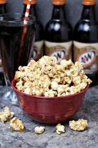 Root Beer Popcorn from cravingsofa - 250 Popcorn Recipes - RecipePin.com