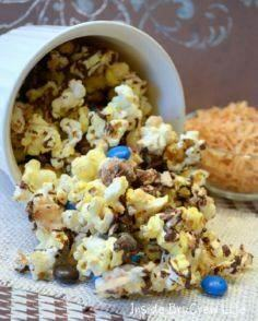 Almond Joy Popcorn from insidebruc - 250 Popcorn Recipes - RecipePin.com