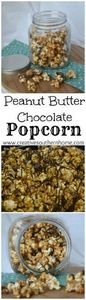 Popcorn coated with peanut butter  - 250 Popcorn Recipes - RecipePin.com