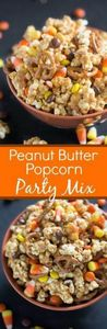 Peanut Butter Popcorn Party Mix is - 250 Popcorn Recipes - RecipePin.com