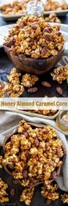 Honey Almond Caramel Corn | Turn c - 250 Popcorn Recipes - RecipePin.com