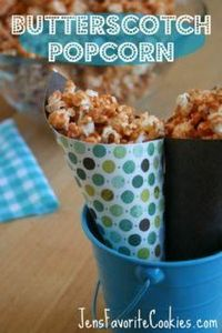 Butterscotch Popcorn - FOUR ingred - 250 Popcorn Recipes - RecipePin.com