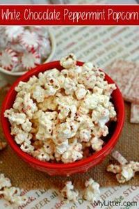This White Chocolate Peppermint Po - 250 Popcorn Recipes - RecipePin.com