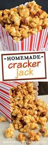 Making Homemade Cracker Jack popco - 250 Popcorn Recipes - RecipePin.com