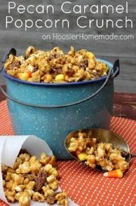 Pecan Caramel Popcorn Crunch - 250 Popcorn Recipes - RecipePin.com