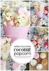 This white chocolate coconut popco - 250 Popcorn Recipes - RecipePin.com