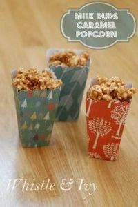This delicious and gooey popcorn r - 250 Popcorn Recipes - RecipePin.com