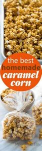 The Best Homemade Caramel Corn! Cr - 250 Popcorn Recipes - RecipePin.com