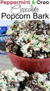 Peppermint and Oreo Chocolate Popc - 250 Popcorn Recipes - RecipePin.com