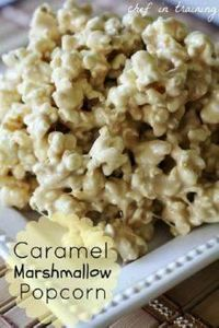 Caramel Marshmallow Popcorn - 250 Popcorn Recipes - RecipePin.com