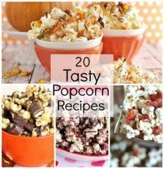 20 Flavored Popcorn Recipes! Holid - 250 Popcorn Recipes - RecipePin.com