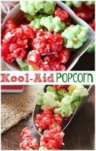 This Kool-Aid Popcorn is such a fu - 250 Popcorn Recipes - RecipePin.com