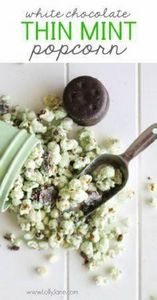 White Chocolate Thin Mints Popcorn - 250 Popcorn Recipes - RecipePin.com