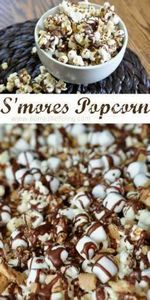 S'mores Popcorn!!!  Get in my bell - 250 Popcorn Recipes - RecipePin.com