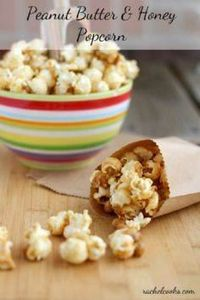 Peanut Butter Popcorn {a sweet tre - 250 Popcorn Recipes - RecipePin.com