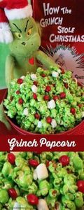 grinch-popcorn - 250 Popcorn Recipes - RecipePin.com