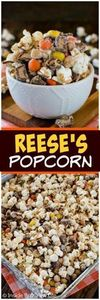 Reese's Popcorn - three times the  - 250 Popcorn Recipes - RecipePin.com