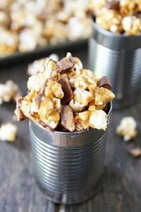 Butter Toffee Heath Popcorn Recipe - 250 Popcorn Recipes - RecipePin.com