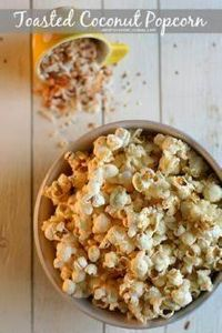 Toasted Coconut Popcorn from JensF - 250 Popcorn Recipes - RecipePin.com